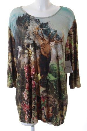 Ulla Popken Longshirt florales Muster Street-Fashion-Look