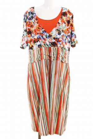 Ulla Popken Maxikleid abstrakter Druck Beach-Look