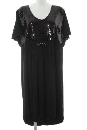 Ulla Popken Abito con paillettes nero elegante