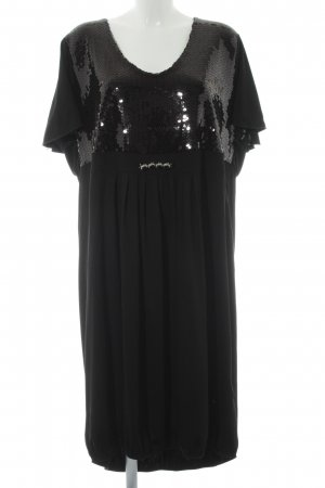 Ulla Popken Pailettenkleid schwarz Elegant