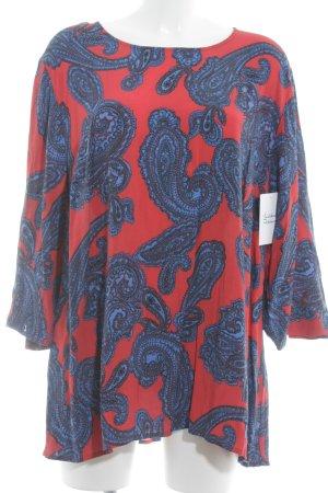Ulla Popken Print-Shirt Paisleymuster Casual-Look