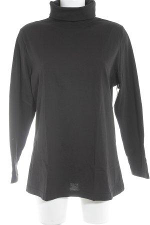 Ulla Popken Rollkragenpullover schwarz minimalistischer Stil