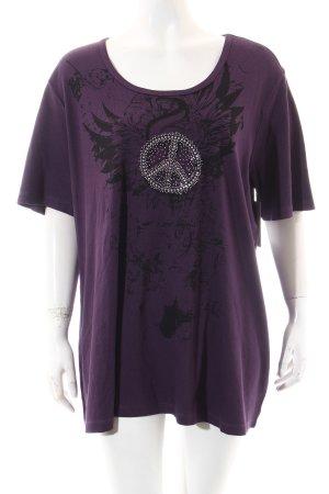 Ulla Popken Shirt dunkelviolett Casual-Look