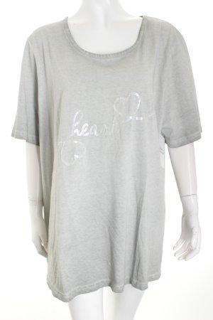 Ulla Popken Shirt hellgrau Casual-Look