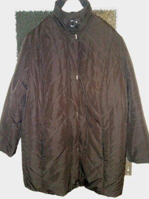 Ulla Popken Quilted Jacket brown-dark brown mixture fibre
