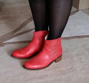 Ulla Popken Stiefeletten Boots Gr 39 Echtleder