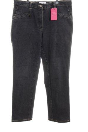 Ulla Popken Straight-Leg Jeans anthrazit schlichter Stil