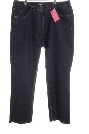 Ulla Popken Straight-Leg Jeans dunkelblau schlichter Stil