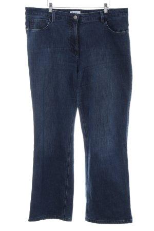 Ulla Popken Straight-Leg Jeans blau Casual-Look
