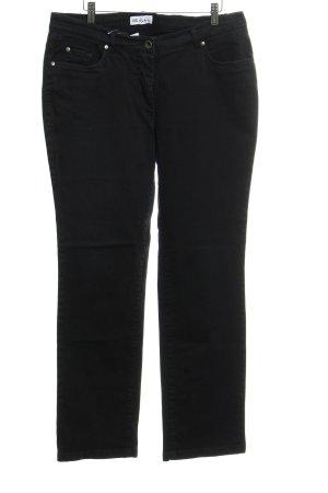 Ulla Popken Straight-Leg Jeans schwarz Casual-Look