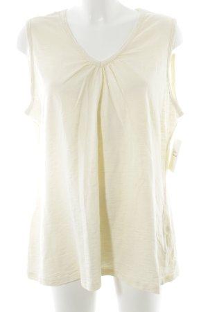 Ulla Popken T-Shirt blassgelb klassischer Stil