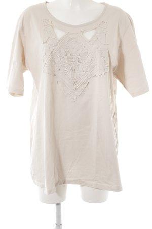 Ulla Popken Camiseta crema look casual