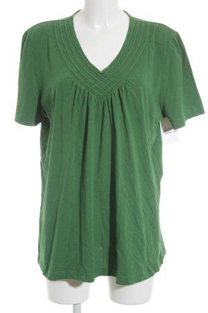 Ulla Popken T-Shirt grün Casual-Look