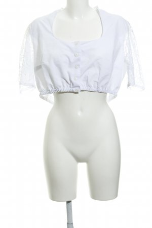 Ulla Popken Blouse bavaroise blanc style de lingerie