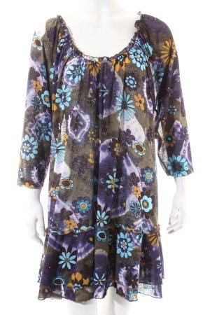 Ulla Popken Transparenz-Bluse florales Muster Gypsy-Look