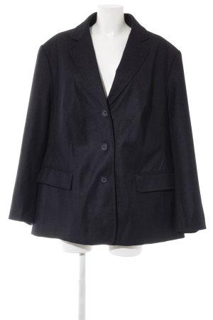 Ulla Popken Tweed blazer donkerblauw casual uitstraling