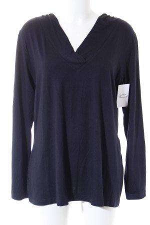 Ulla Popken V-Ausschnitt-Pullover dunkelblau Casual-Look