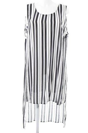Ulla Popken Vokuhila-Kleid weiß-schwarz Streifenmuster Casual-Look