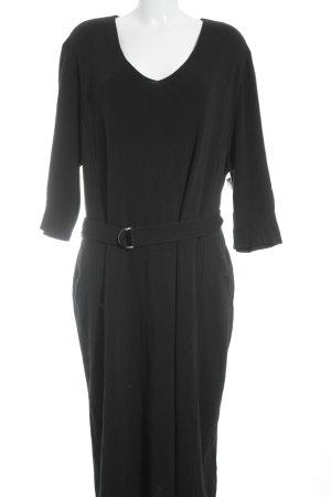 Ulla Popken Wollkleid schwarz minimalistischer Stil