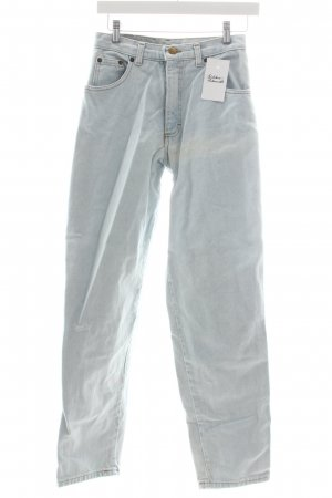 Ultimo High-Waist Hose hellblau Casual-Look