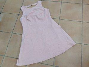 Zara Vestido línea A rosa-blanco
