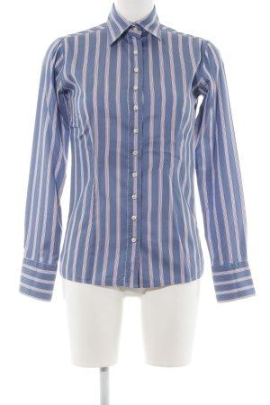 Umani Langarm-Bluse blau-pink Streifenmuster Business-Look