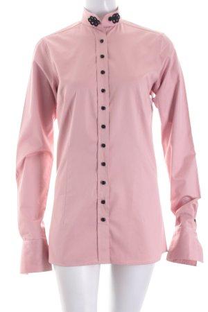 Umani Langarm-Bluse rosé Casual-Look