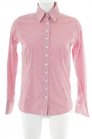 Umani Long Sleeve Shirt red-white check pattern casual look