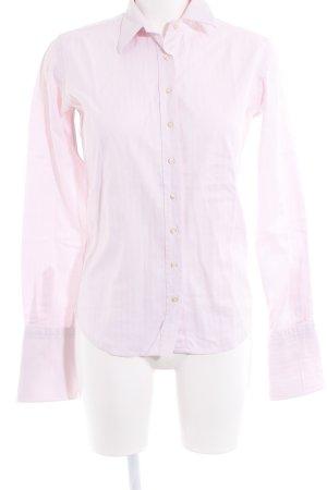 Umani Camisa de manga larga rosa estampado a rayas estilo «business»