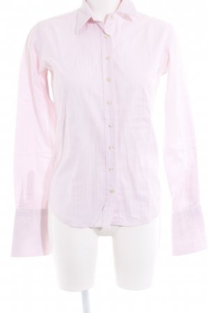 Umani Langarmhemd rosé Streifenmuster Business-Look