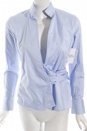 Umani Wickel-Bluse hellblau Business-Look