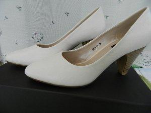 umelles - Damenschuh Lederpumps Gr.36 weiß