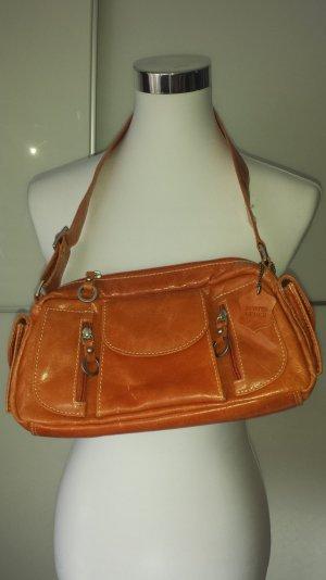 Crossbody bag orange leather