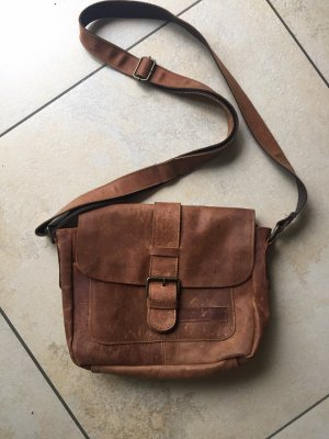 Vera Pelle Crossbody bag light brown