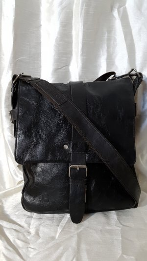 aunts & uncles Crossbody bag black brown leather