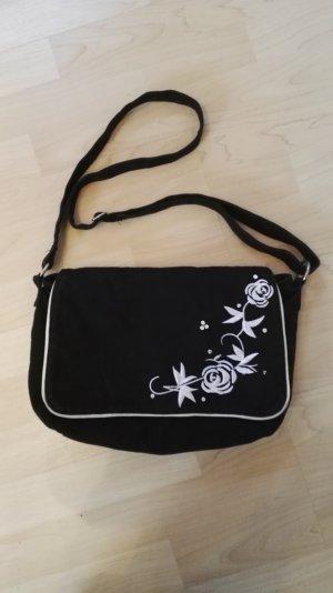 Crossbody bag white-black