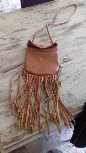 no name Fringed Bag cognac-coloured