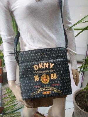 DKNY Gekruiste tas zwart-goud Oranje