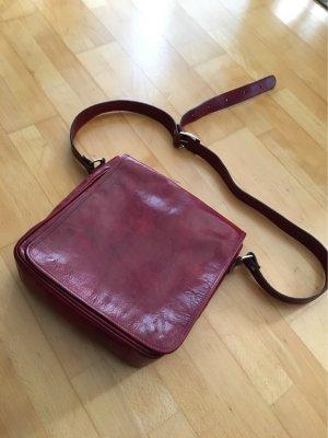 0039 Italy Sac bandoulière rouge foncé cuir