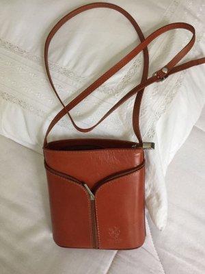 Umhängetasche braun Leder neu true Vintage Style Burberry Style