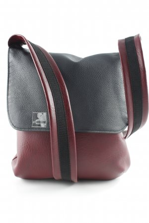 Crossbody bag brown violet-black simple style
