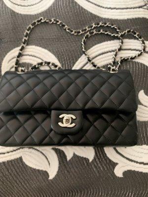 Chanel Gekruiste tas zwart-bordeaux