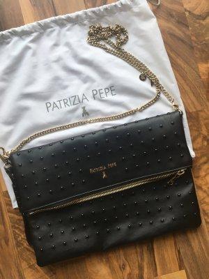 Patrizia Pepe Sac bandoulière noir-doré cuir