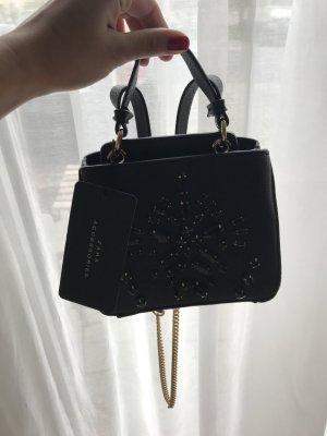 Zara Bandolera negro Imitación de cuero