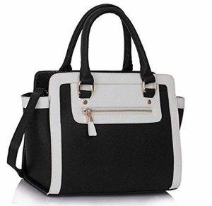 Gekruiste tas zwart-wit