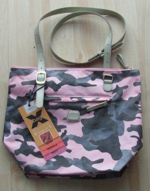 Bric's Crossbody bag light pink-grey textile fiber