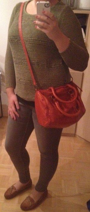 Carry Bag orange imitation leather