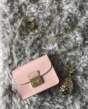 Umhängetasche in Rosa/Gold (Furla Look-alike)