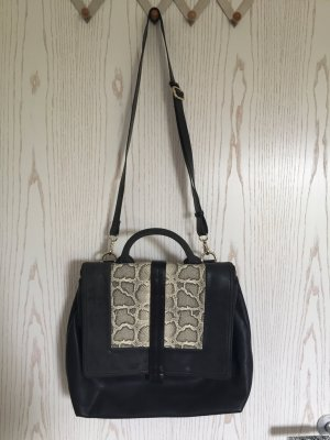 Zara Crossbody bag black-oatmeal