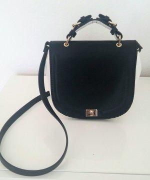 Umhängetasche in schwarz-weiss von Zara